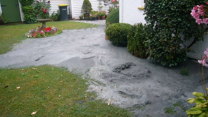 Liquefaction in a backyard