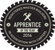 Registered Master Builders apprentice of the year 2016 logo.