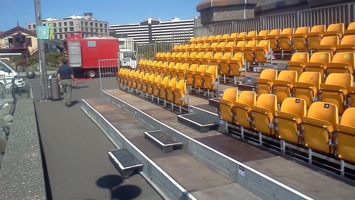 Temporary seating for an event