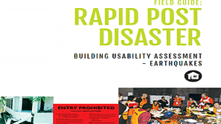 Cover of the Rapid Post Disaster Building Usability Assessment – Earthquake document